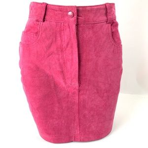 Chia Vintage Leather Suede Pencil Skirt Size 6